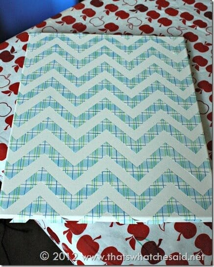 Patriotic Canvas Chevron Stripes
