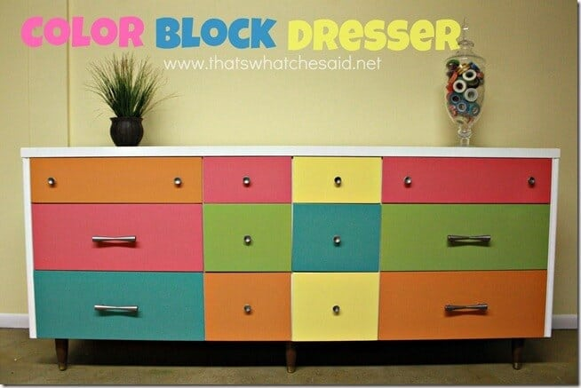 Color Block Dresser
