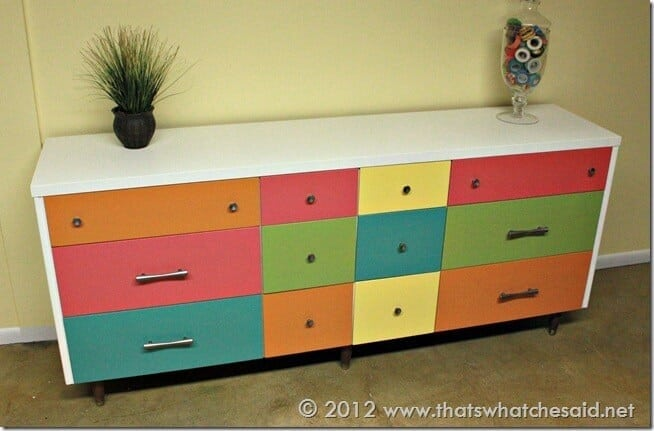 Color Block Trendy Dresser