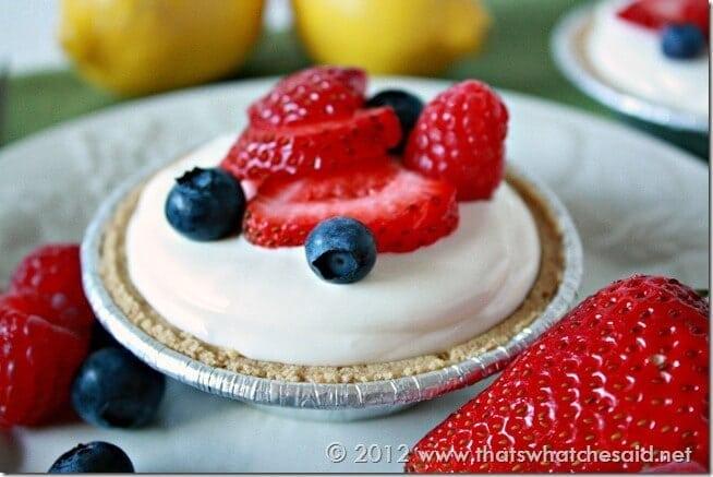 Frozen Lemonade Mini Pies. Perfect Summer Treat