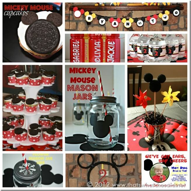 Micke Mouse Birthday Party Collage