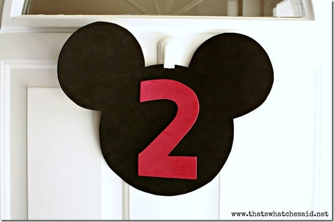 Mickey Mouse Door Hanging