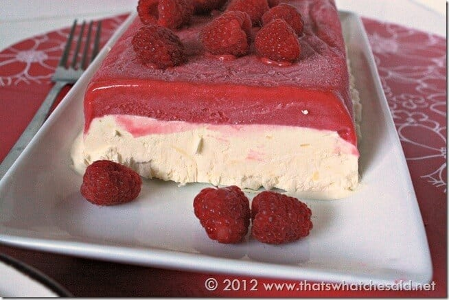 Rapsberry Frozen Dessert - looks elegant however so easy to make!