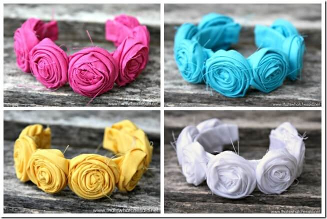 Rosette Cuff Bracelets Collage Rectangle