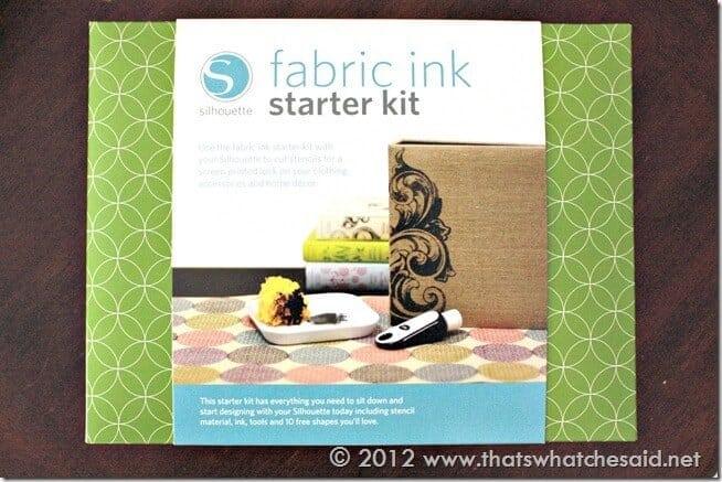 Silhouette Fabric Ink Starter Kit