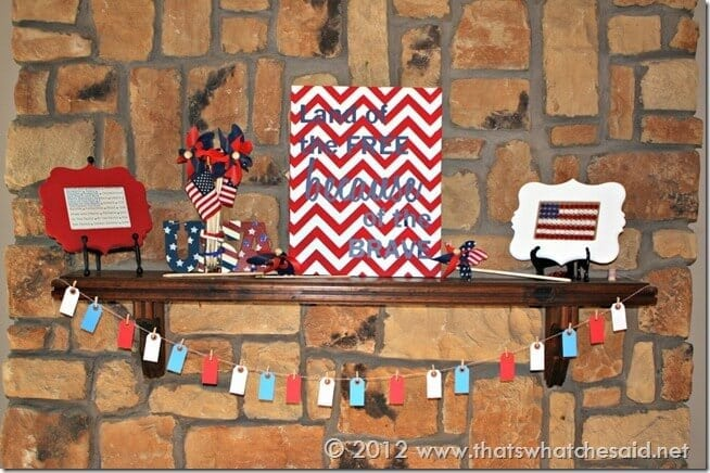 First Fourth of July Mantle