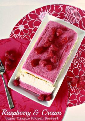Raspberry & Cream Super Simple Dessert
