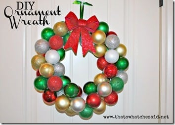 A DIY Ornament Wreath