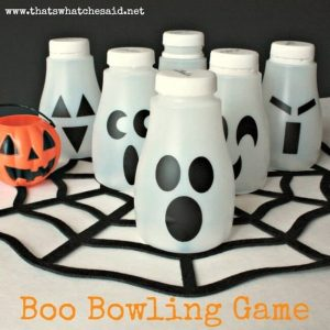 Boo Bowling Children's Halloween Activity