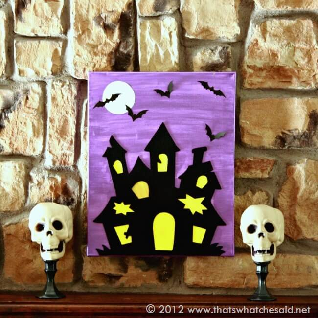 Dollar store skull pedestals that 39 s what che said for Homemade haunted house effects