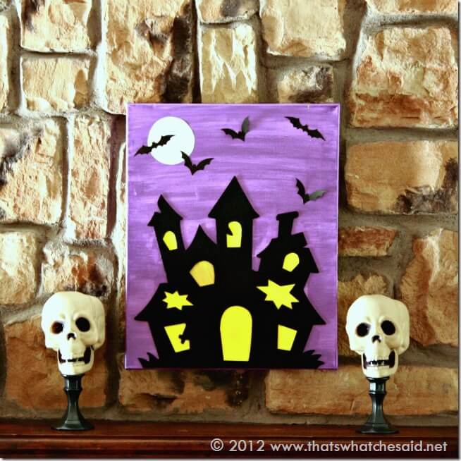 DIY Haunted House Canvas Square