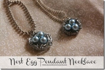 DIY Nest Egg Pendant Necklaces