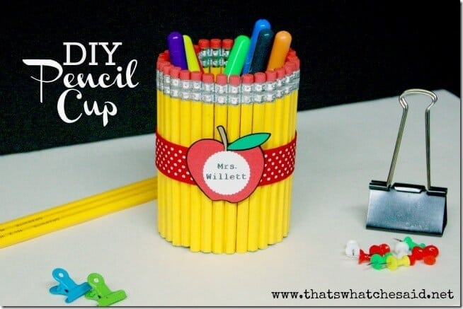 DIY Pencil Cup Teachers Gift