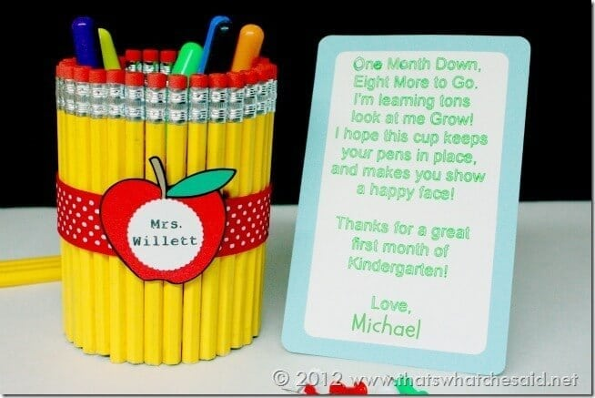 DIY Pencil Cup with Note