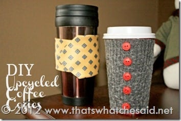 DIY UPcycled Coffee Cozies