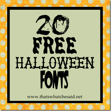 examples of 20 different halloween fonts and what they look like