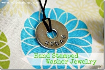 Hand Stamped Washer Jewelry