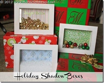 Holiday Shadow Boxes