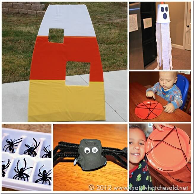 Kid's Halloween Activity and Crafts Collage