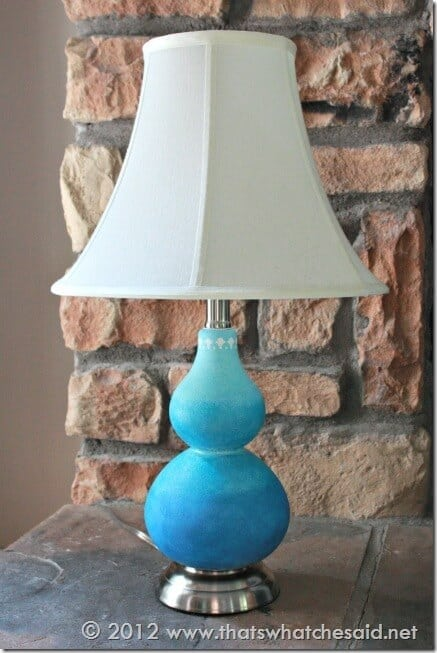 Ombre Painted Glass Lamp
