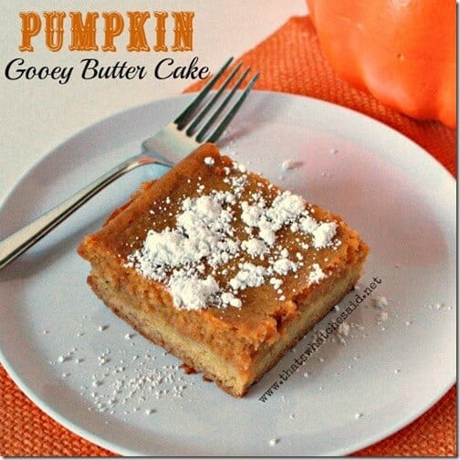 Pumpkin Gooey Butter Cake with Powdered Sugar 1