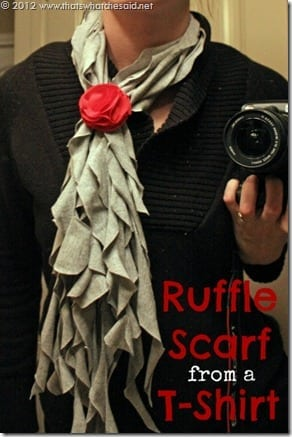 Ruffle Scarf from a tshirt