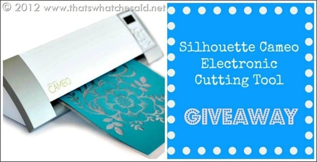 Silhouette Cameo Machine Giveaway