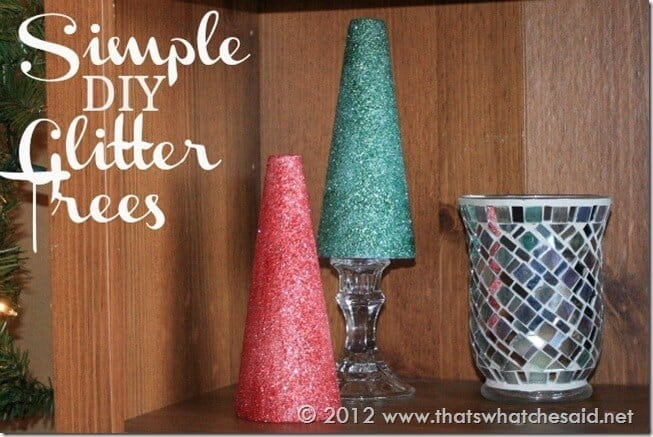 Simple DIY Glitter Trees