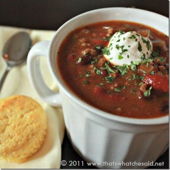3 Bean Chili Recipe on thatswhatchesaid.net