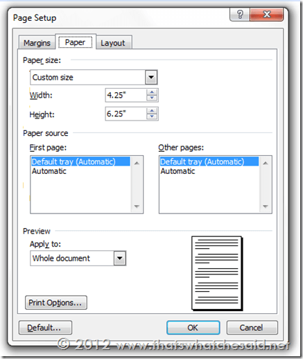 CC Page settings