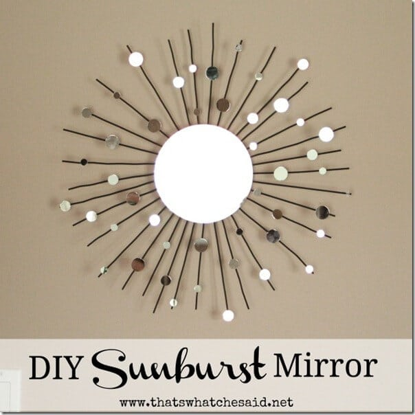 DIY Sunburst Mirror from a Candle