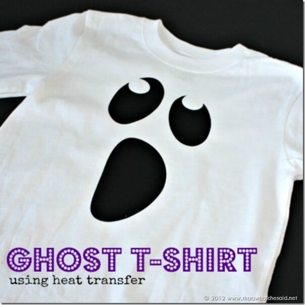 Ghost Shirt using Heat Transfer Square
