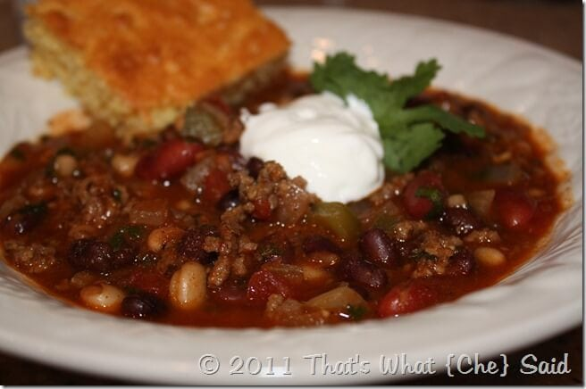 Three Bean Chili Recipe at thatswhatchesaid.net