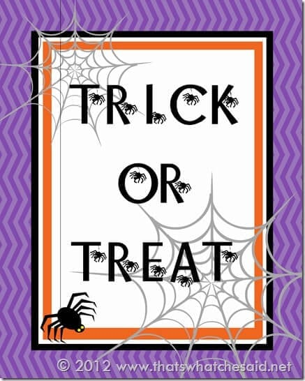 Trick or Treat Printable 2012 16 x 20