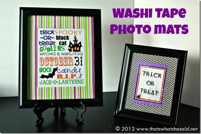 Washi Tape Photo Mats