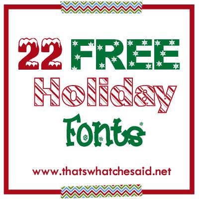 Christmas Lights Fonts 22 free holiday fonts!