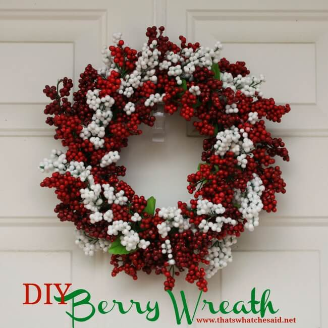 diy dollar tree berry christmas wreath