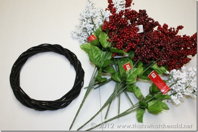 Berry Wreath Supplies