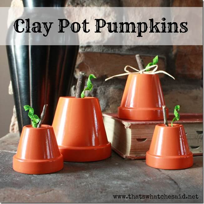 Clay Pot Pumpkins Square