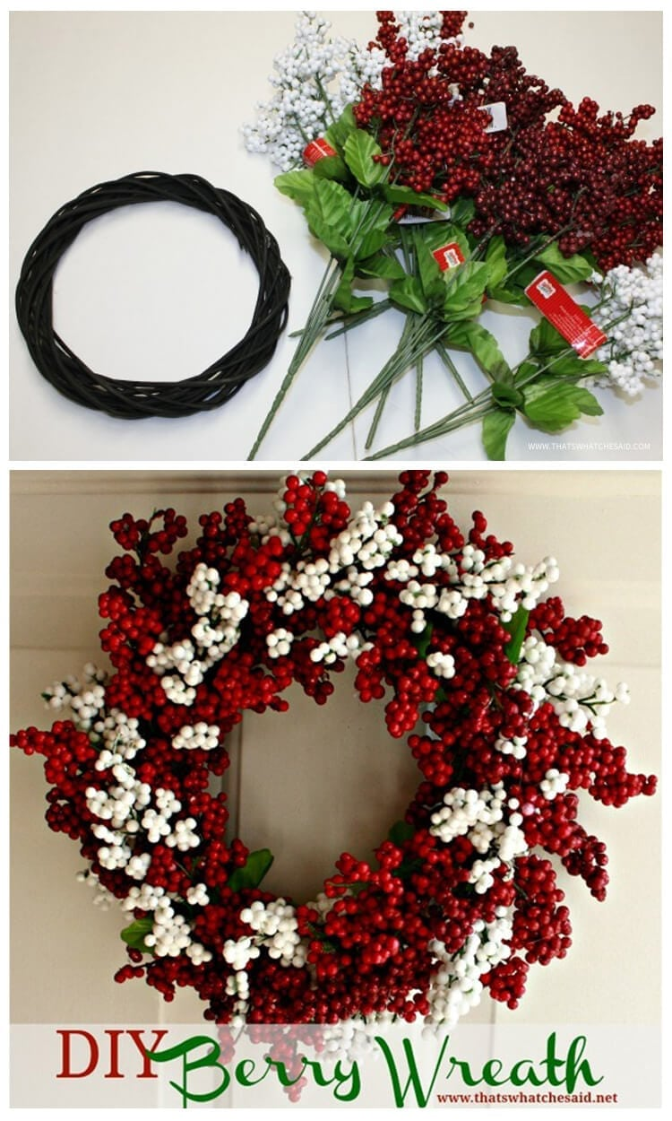 DIY Berry Wreath - That's What {Che} Said...