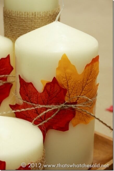Double Leaves Candle