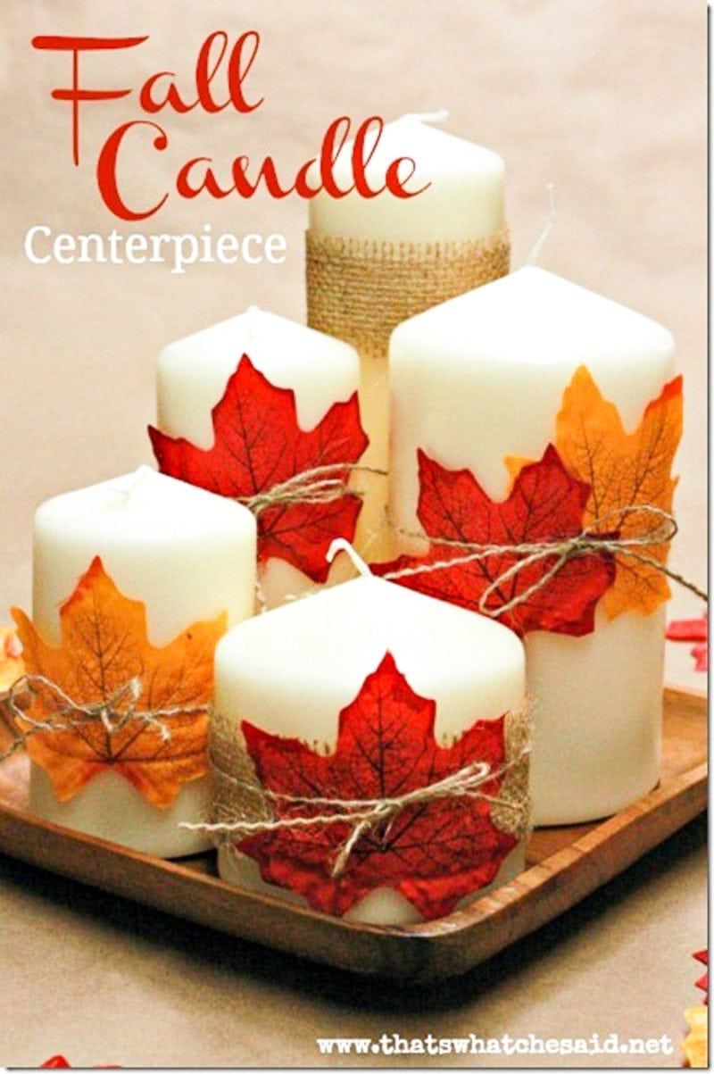 DIY Candle Centerpiece perfect for Fall