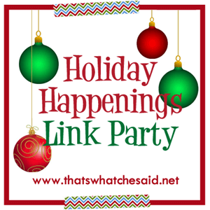 Holiday Happenings Link Party Button