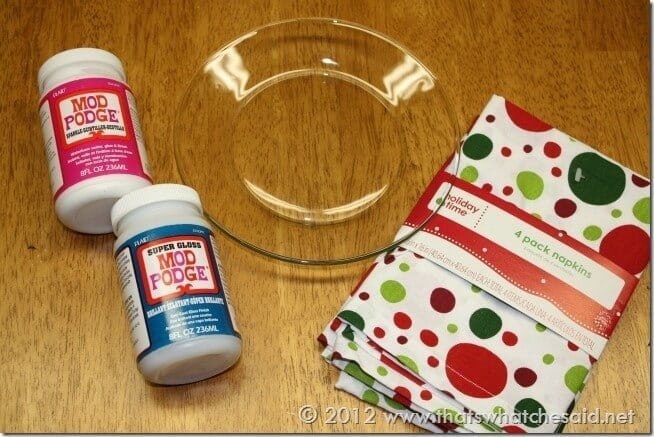 Mod Podge Cookie Plate Supplies