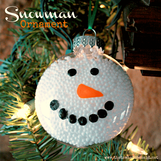 Snowman Ornament Square