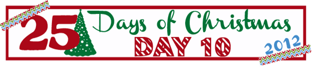 25 Days of Christmas Banner Day 10