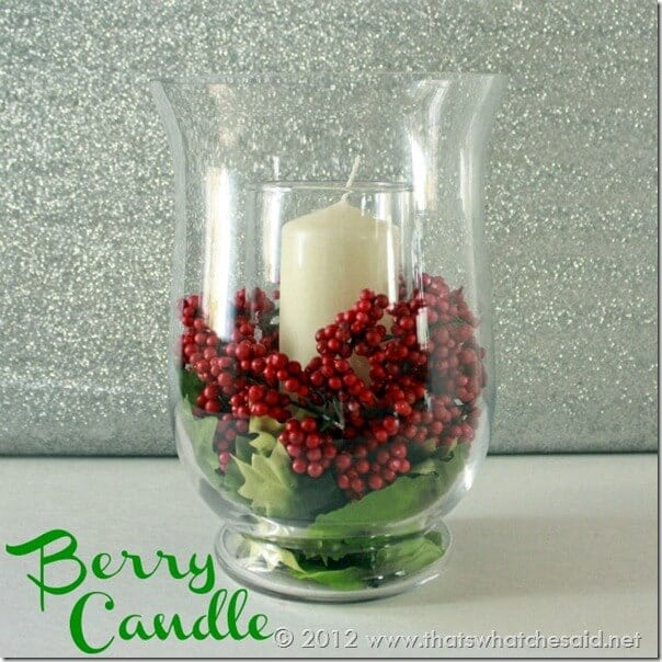 Berry Candle Centerpiece