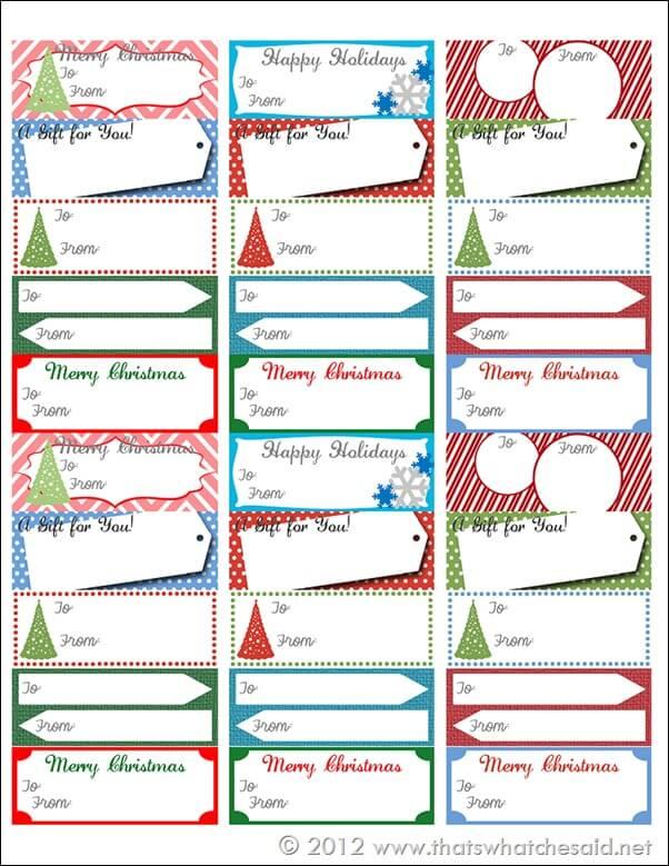 Free Printable Gift Tags - Gift Giving Sheet
