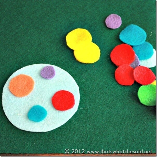 Circle Felt Ornaments with Decor