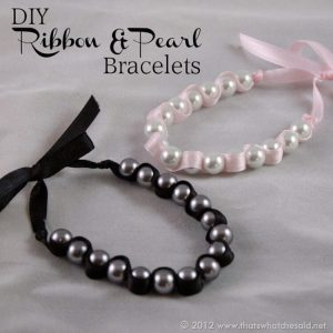 DIY Ribbon & Pearl Bracelets with a {GIVEAWAY}